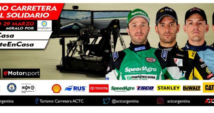 Este domingo se desarrollará una competencia de Turismo Carretera virtual, en el autódromo de Concordia.