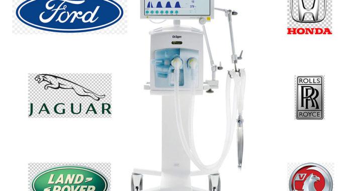 Coronavirus: seis marcas de autos usarán sus fábricas para producir respiradores artificiales.