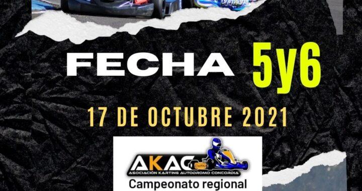 El próximo domingo 17 de octubre jornada doble para el Karting de Concordia.